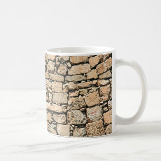 Vieja textura de la pared de piedra tazas