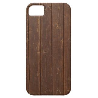 Vieja textura de madera de la pared de Brown iPhone 5 Fundas