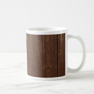 Vieja textura de madera de la pared de Brown Taza