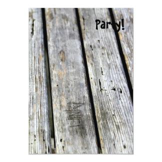 Vieja textura de madera invitación 12,7 x 17,8 cm
