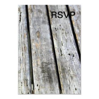 Vieja textura de madera invitación 8,9 x 12,7 cm