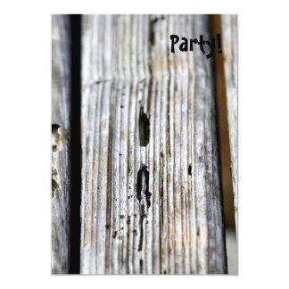 """Vieja textura de madera invitación 5"""" x 7"""""""