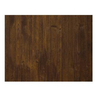 Vieja textura de madera marrón de la pared postales