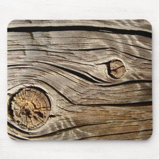 Vieja textura de madera mouse pad