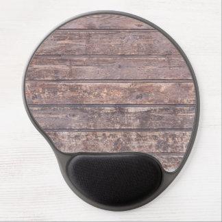 Vieja textura de madera resistida de la pared alfombrilla de raton con gel
