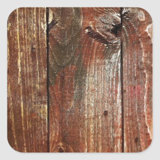 Vieja textura de madera roja de la pared pegatinas cuadradases personalizadas
