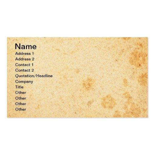 Vieja textura de papel 3 tarjetas de visita