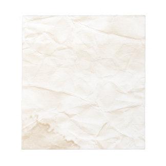 vieja textura de papel con la mancha del café bloc de papel