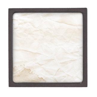 vieja textura de papel con la mancha del café caja de regalo de calidad