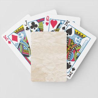 vieja textura de papel con la mancha del café baraja cartas de poker