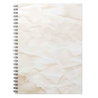 vieja textura de papel con la mancha del café libreta