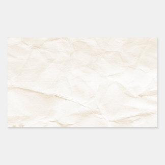vieja textura de papel con la mancha del café rectangular pegatinas