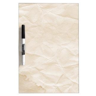 vieja textura de papel con la mancha del café pizarra blanca
