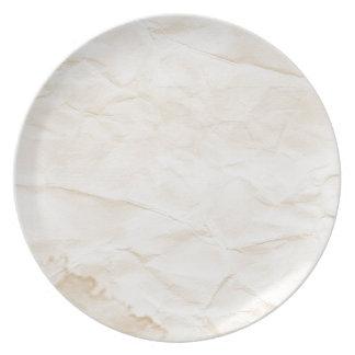 vieja textura de papel con la mancha del café platos