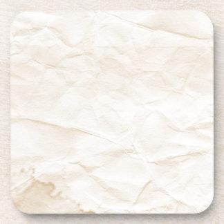 vieja textura de papel con la mancha del café posavasos de bebidas