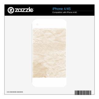 vieja textura de papel con la mancha del café calcomanías para iPhone 4