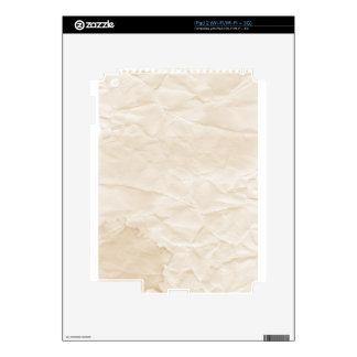 vieja textura de papel con la mancha del café iPad 2 calcomanía