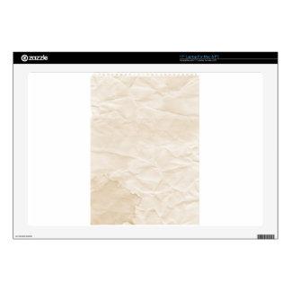 vieja textura de papel con la mancha del café 43,2cm portátil calcomanía