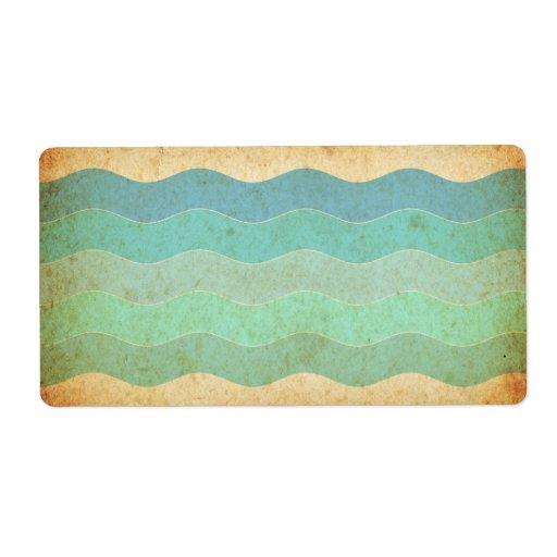 Vieja textura de papel del vintage etiquetas de envío