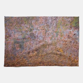 Vieja textura oxidada del metal toallas