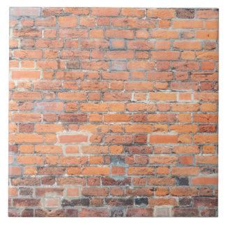 Vieja textura roja de la pared de ladrillo azulejo cuadrado grande