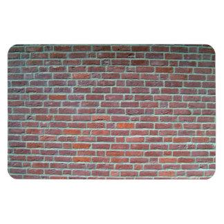 Vieja textura roja de la pared de ladrillo iman rectangular
