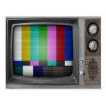 Vieja TV nostalgia retra del vintage Postal