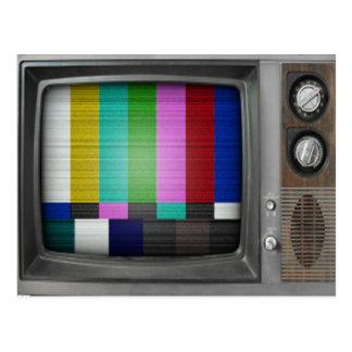 Vieja TV nostalgia retra del vintage Tarjeta Postal