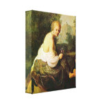 Vieja y joven mujer de Rembrandt - Lona Estirada Galerias