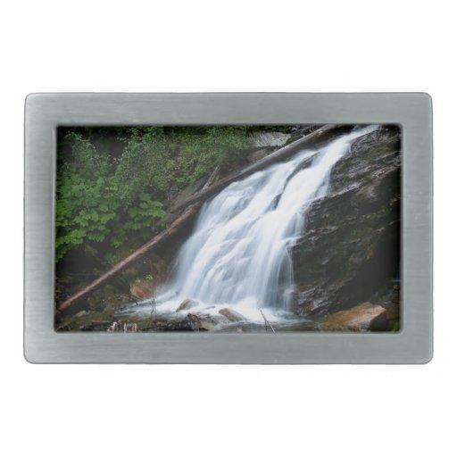 Viejas caídas de la montaña del agua hebillas cinturón rectangulares