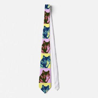 Viejas corbatas cómicas del lobo del arte pop del corbatas