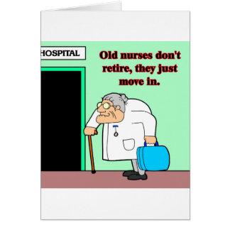 viejas enfermeras tarjeta de felicitación