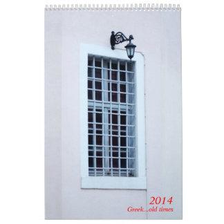 Viejas épocas griegas calendarios de pared