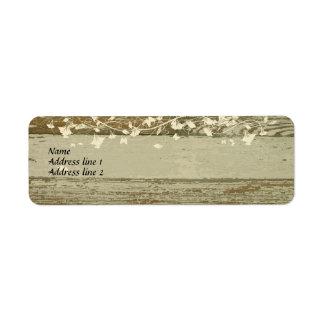 Viejas etiquetas de dirección de madera--tinte del