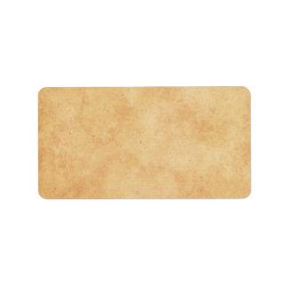 Viejas etiquetas de papel manchadas vintage del es etiqueta de dirección