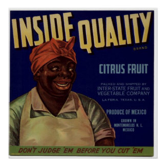 Viejas etiquetas del cajón de la fruta de Cirtus d Poster