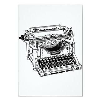 """Viejas invitaciones de la máquina de escribir invitación 3.5"""" x 5"""""""