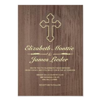 Viejas invitaciones del boda de la cruz del hierro invitación 12,7 x 17,8 cm