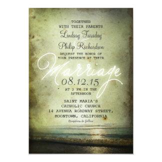 viejas INVITACIONES del BODA de PLAYA del vintage Invitación 12,7 X 17,8 Cm