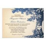 viejas invitaciones del boda del roble del vintage anuncios personalizados