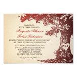 viejas invitaciones del boda del roble del vintage invitación