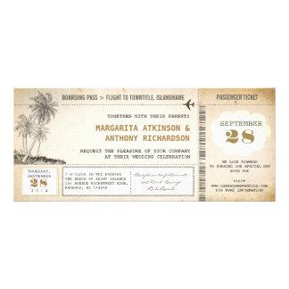 viejas invitaciones del boda del vuelo del documen comunicado personalizado