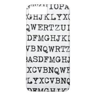 Viejas letras de la máquina de escribir funda iPhone 7 plus