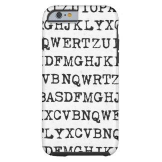 Viejas letras de la máquina de escribir funda resistente iPhone 6