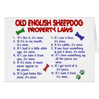 VIEJAS leyes INGLESAS 2 de la propiedad del PERRO Tarjeton