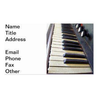 Viejas llaves del órgano tarjetas personales