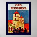 Viejas misiones Santa Barbara Póster