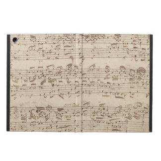 Viejas notas de la música - hoja de música de Bach