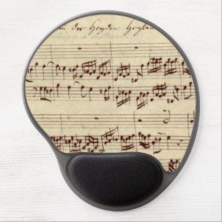 Viejas notas de la música - hoja de música de Bach Alfombrilla Gel