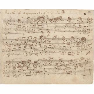 Viejas notas de la música - hoja de música de Bach Escultura Fotográfica